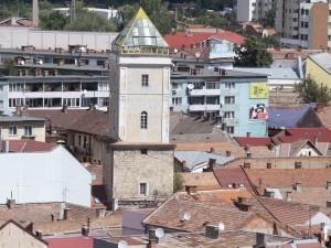 Firemen medieval tower