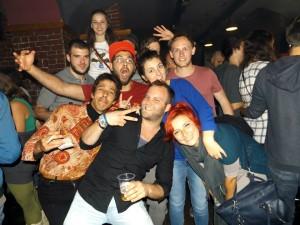 people having fun in flying circus cluj-napoca