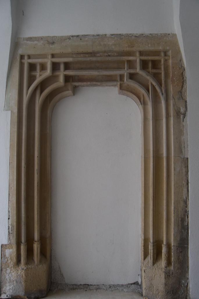 Architecture of Cluj. Gothic door.