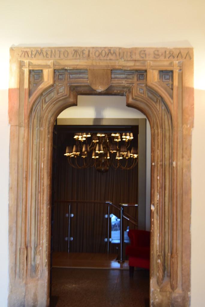 Architecture Cluj. Gothic door.