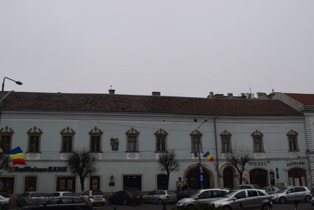 architecture in cluj . Catholic parish.