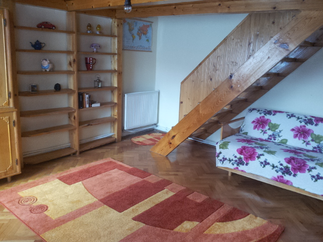 Wooden lofted apartment in the City Center of Cluj